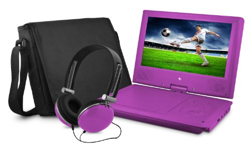 "9"" DVD Player Bundle Purple"