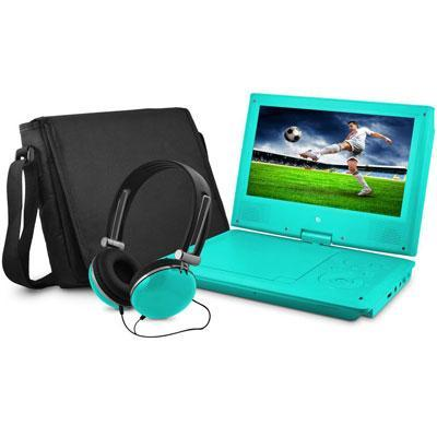 "9"" DVD Player Bundle Teal"