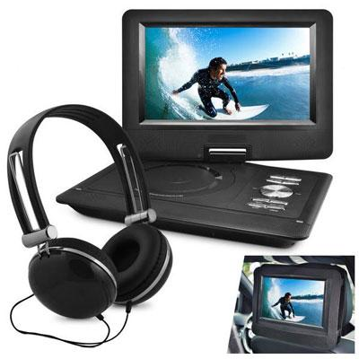 "10"" Port DVD Headphone Bundle Black"