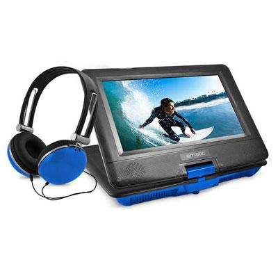 "10"" Port DVD Headphone Bundle Blue"