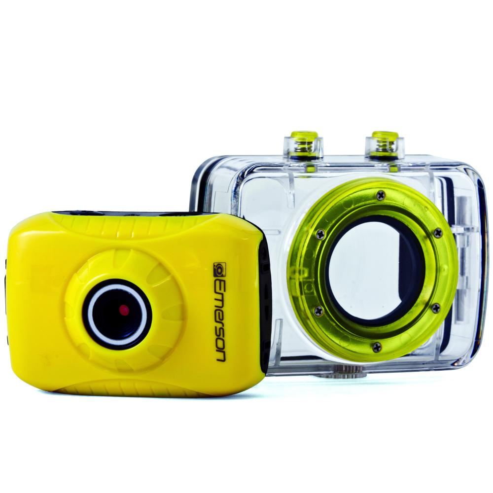 Emerson HD ActionCam Digital Video Camera, Yellow