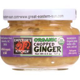 Giinger - Organic - Chopped ( 12 - 4.5 OZ )