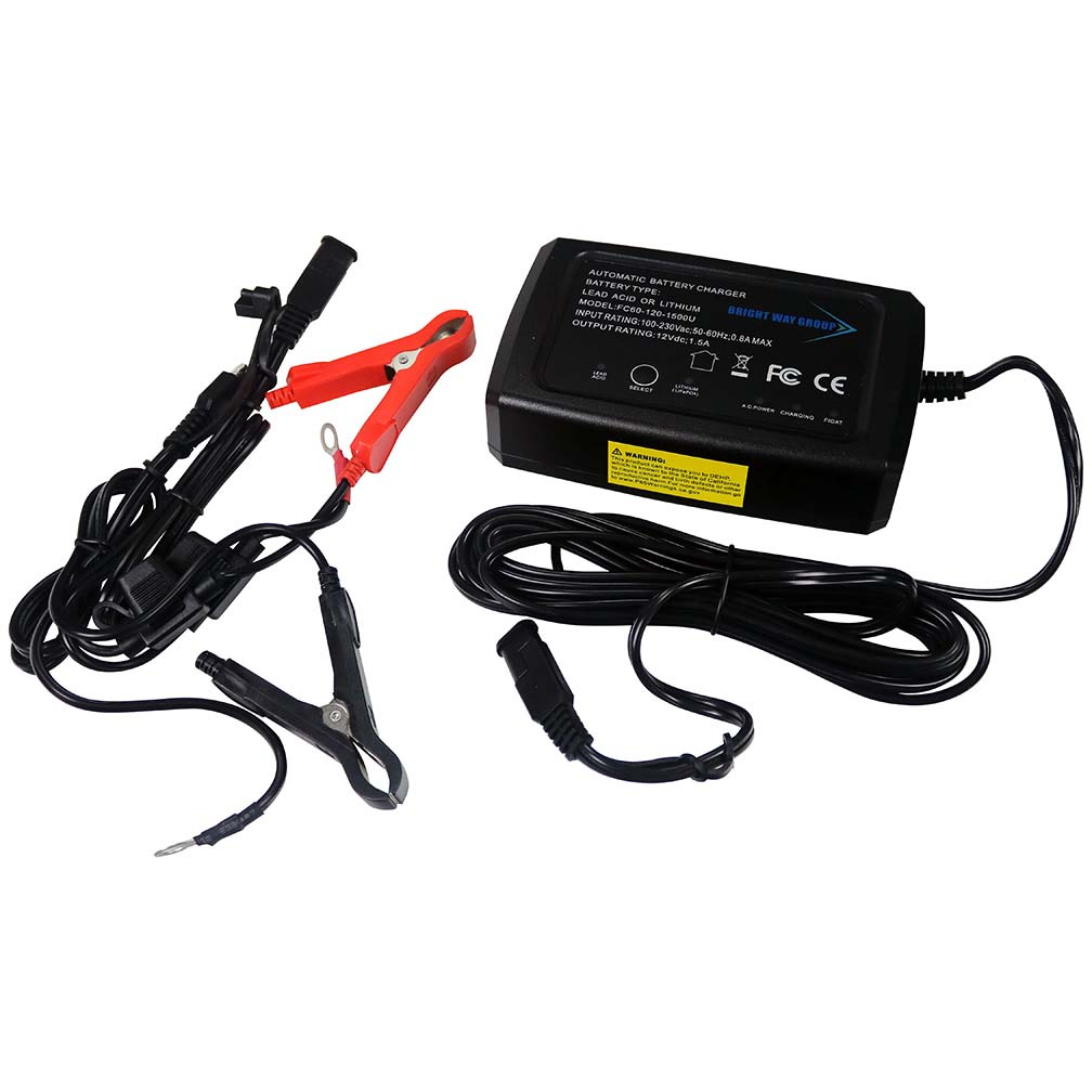 Bright Way Group 12 Volt Desulfating Smart Charger/Maintainer with Lithium Mode