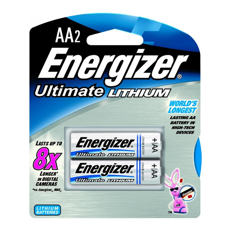 Energizer EL91-BP2 AA-2 Lithium Batteries