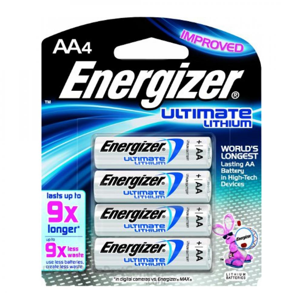 Energizer EL91-BP4 AA-4 Lithium Batteries