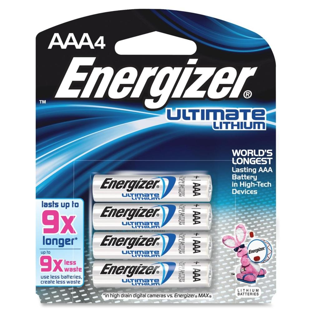 Energizer EL92 BP4  AAA-4pack Lithium Battery