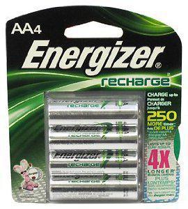 Energizer recharge AA-4 NiMH Batteries 2300mAh