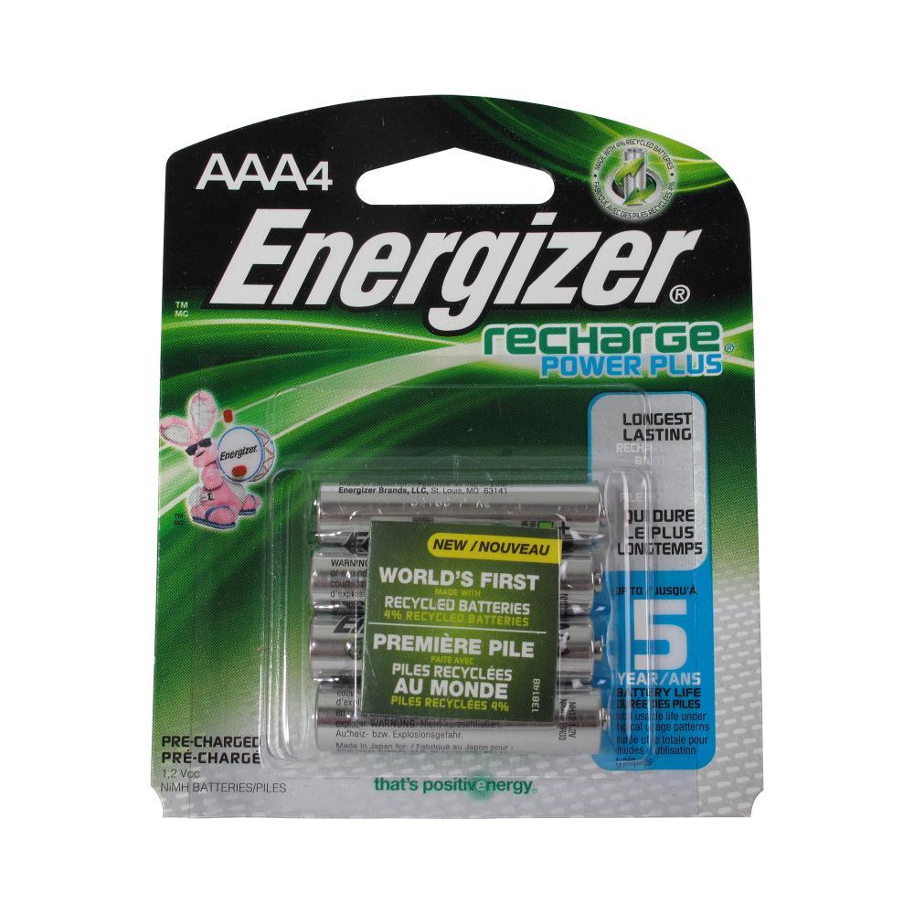 Energizer e2 Rechargeable AAA-4 NiMH 1.2v Batteries 850mAh