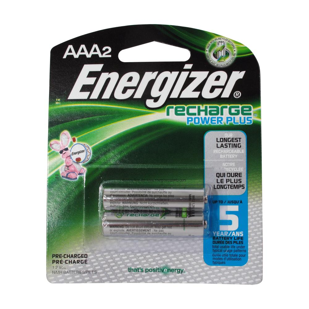 Energizer Rechargeable Batteries, AAA Size, 2-Count