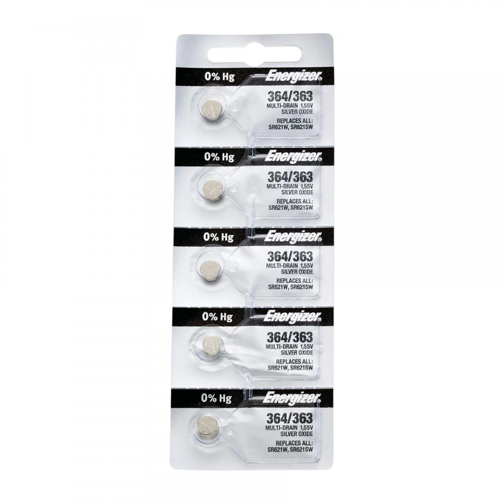 Energizer SR-621SW - 363/364 Watch/Calculator Battery, Sold in strips of 5 only