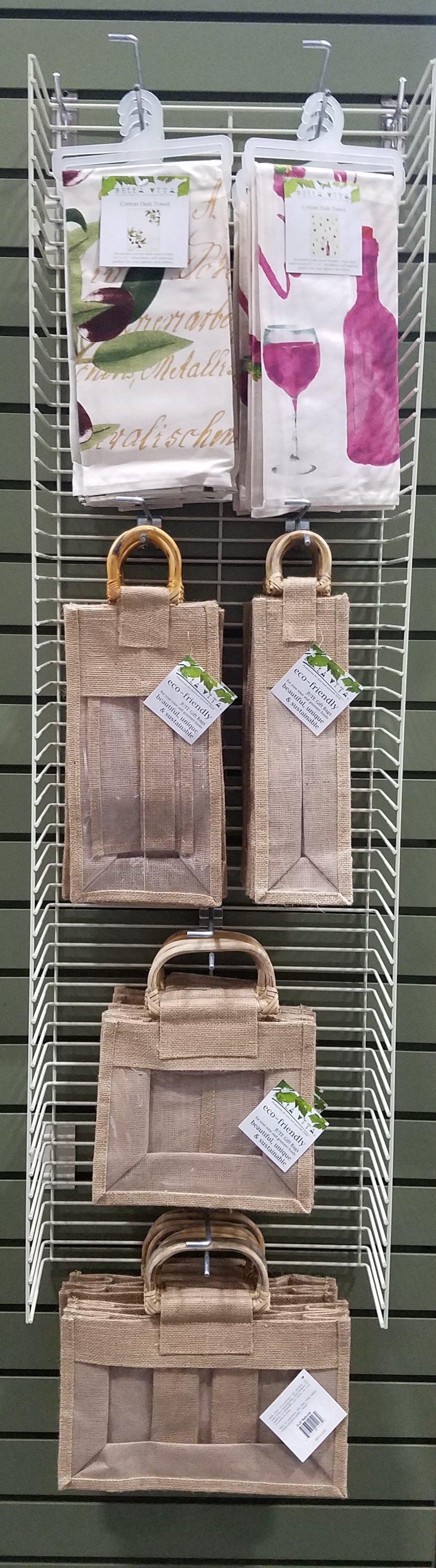 Gourmet Bag and Dish Towel Display Panel