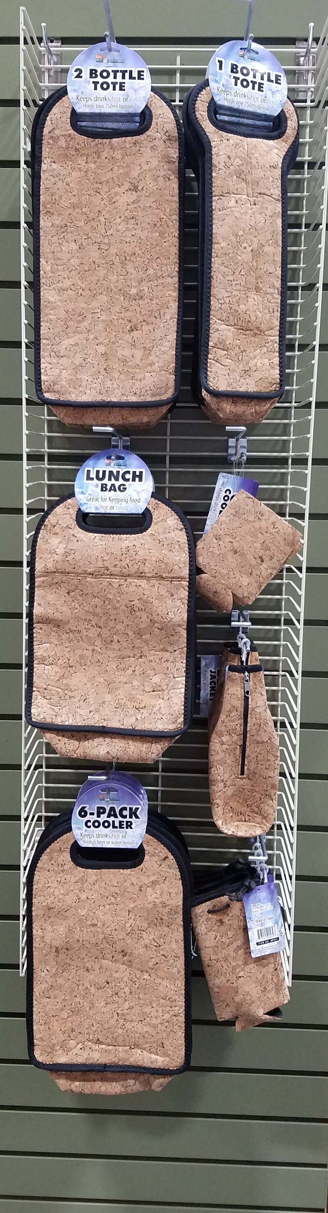 Neoprene Cork Assortmentd. Display Panel