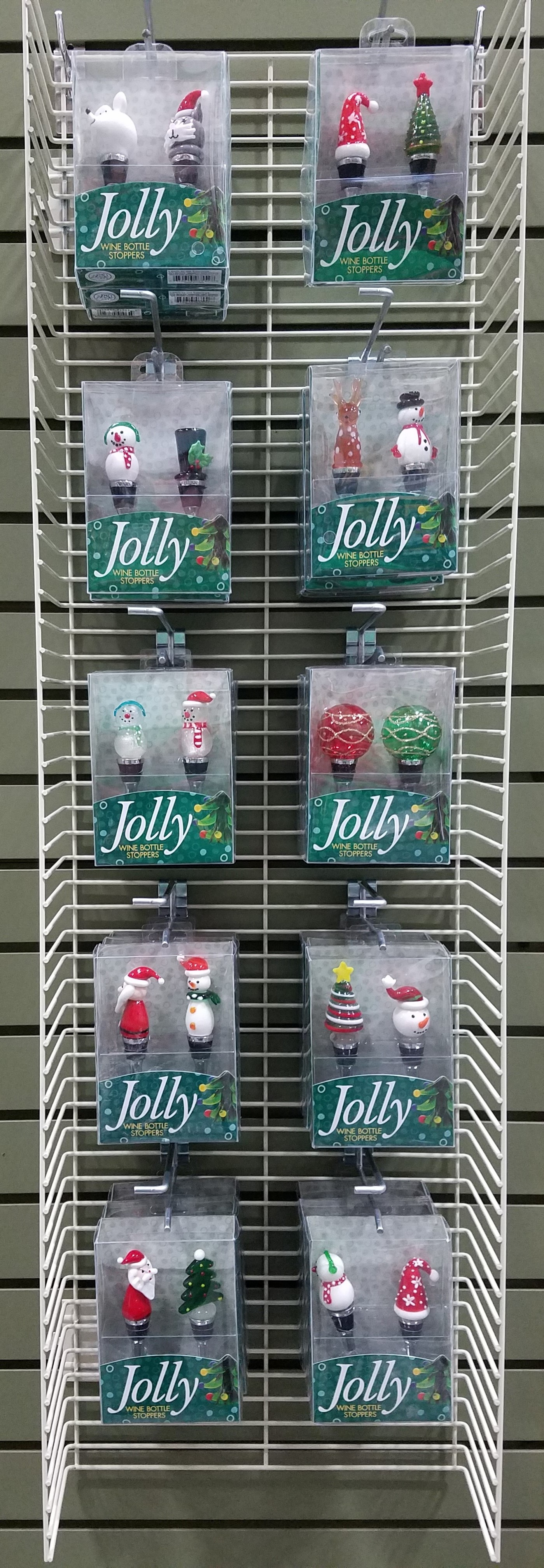 Holiday Bottle Stoppers S/2 Display Panel
