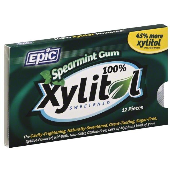 Epic Dental Xylitol Gum Spearmint (12x12 CT)