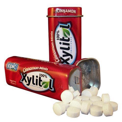 Epic Dental  Cinnamon Xylitol Mints (10x60 Ct)