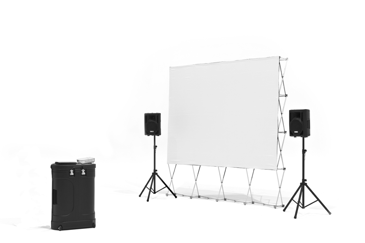 16' QuikScreen Pro  Series w/Optoma 720p projector