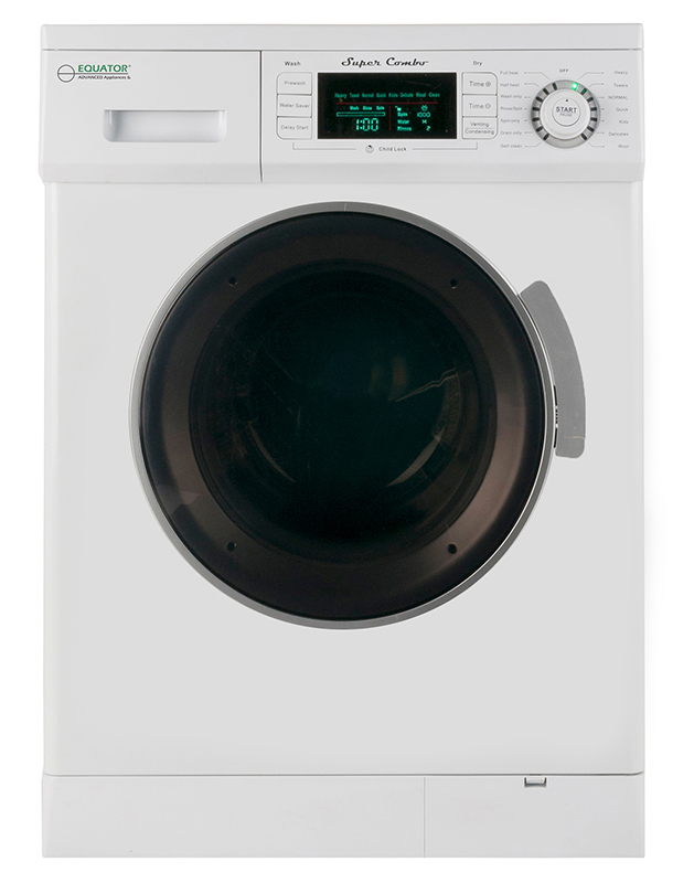 Equator 1.57 Cu. Ft. Compact 2013 Convertible Super Combo Washer with Venting/Condensing Drying, White
