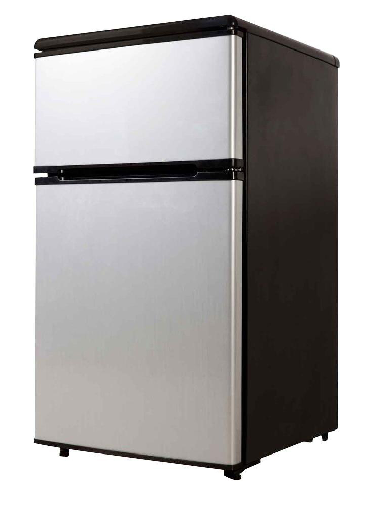 Equator-Midea Compact Refrigerator, 3.1 cu.ft, Stainless