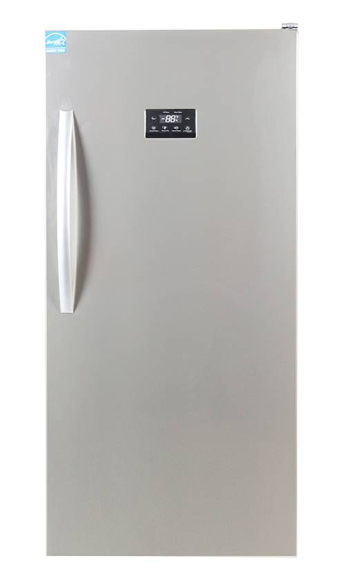 Equator Upright Freezer 13.7 cu.ft, Stainless Steel
