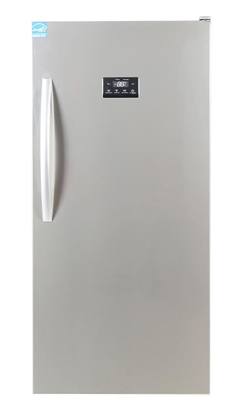 Equator Upright Freezer 13.7 cu.ft, Stainless Steel