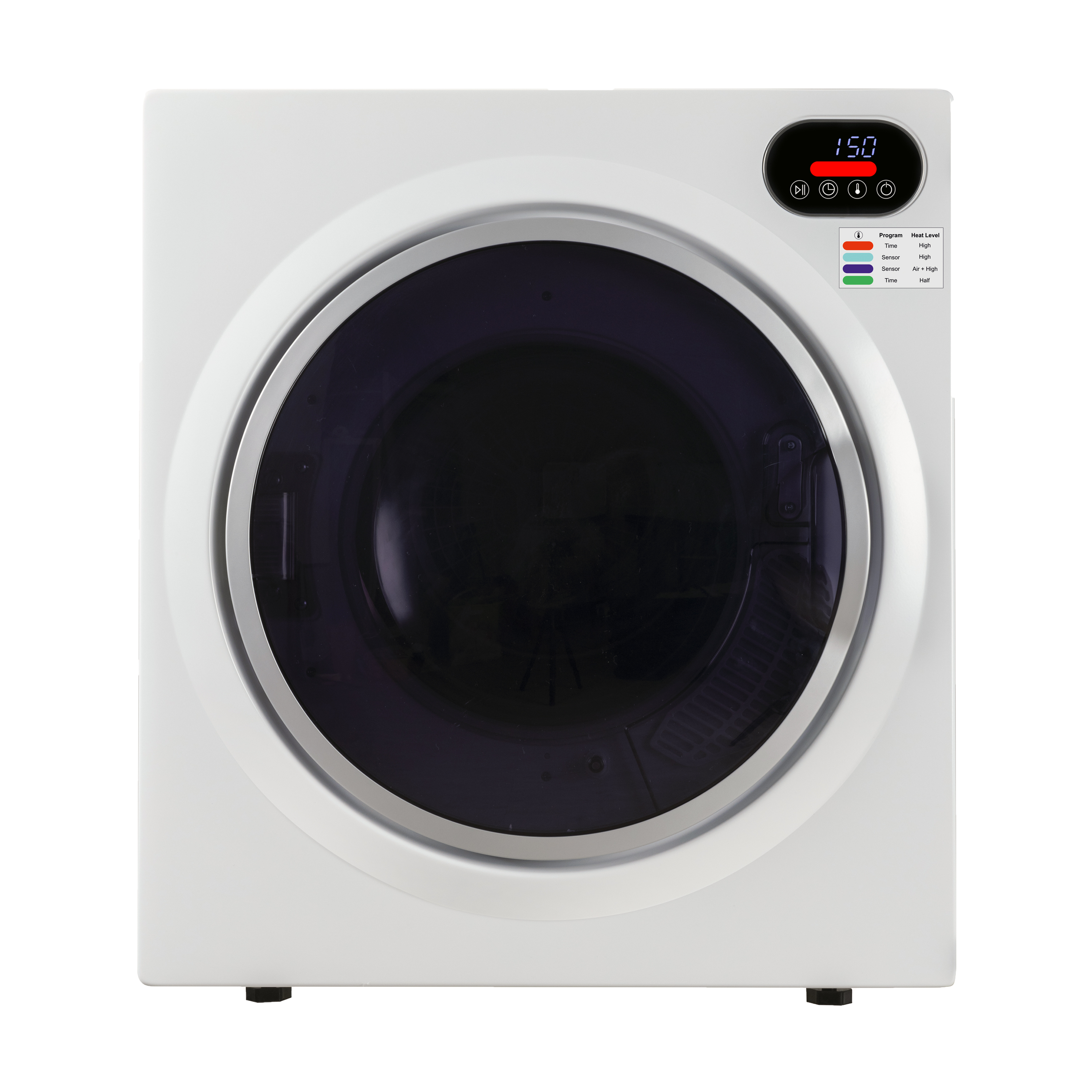 2.6 cu.ft. Compact Digital Dryer in White