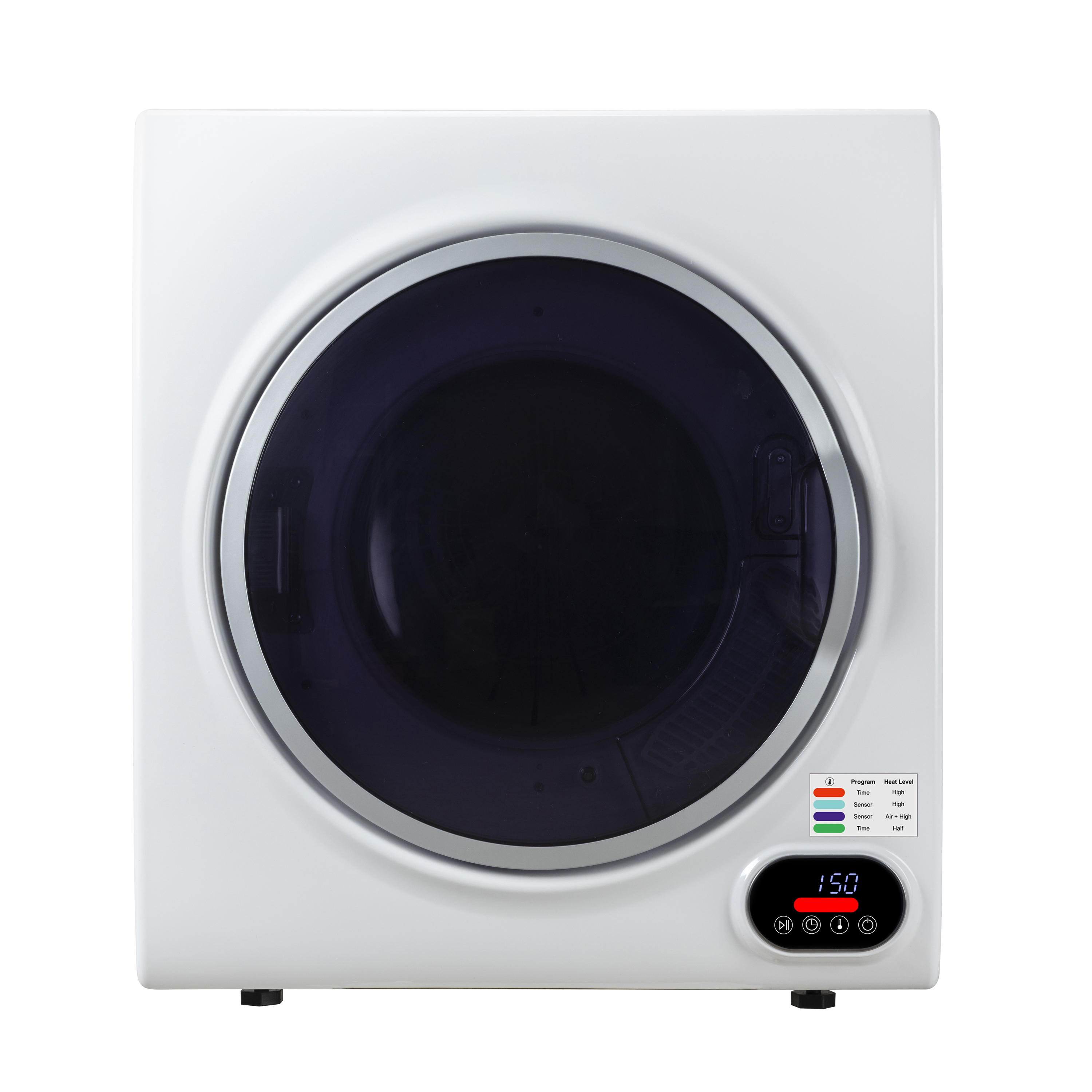 3.5 cu.ft. Compact Short Dryer with Digital Controls in White
