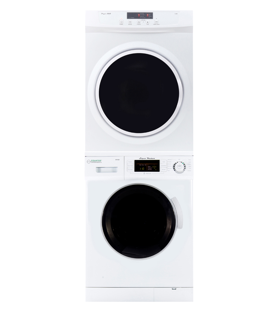 Equator Set of Super Washer & Standard Dryer with Sensor Dry