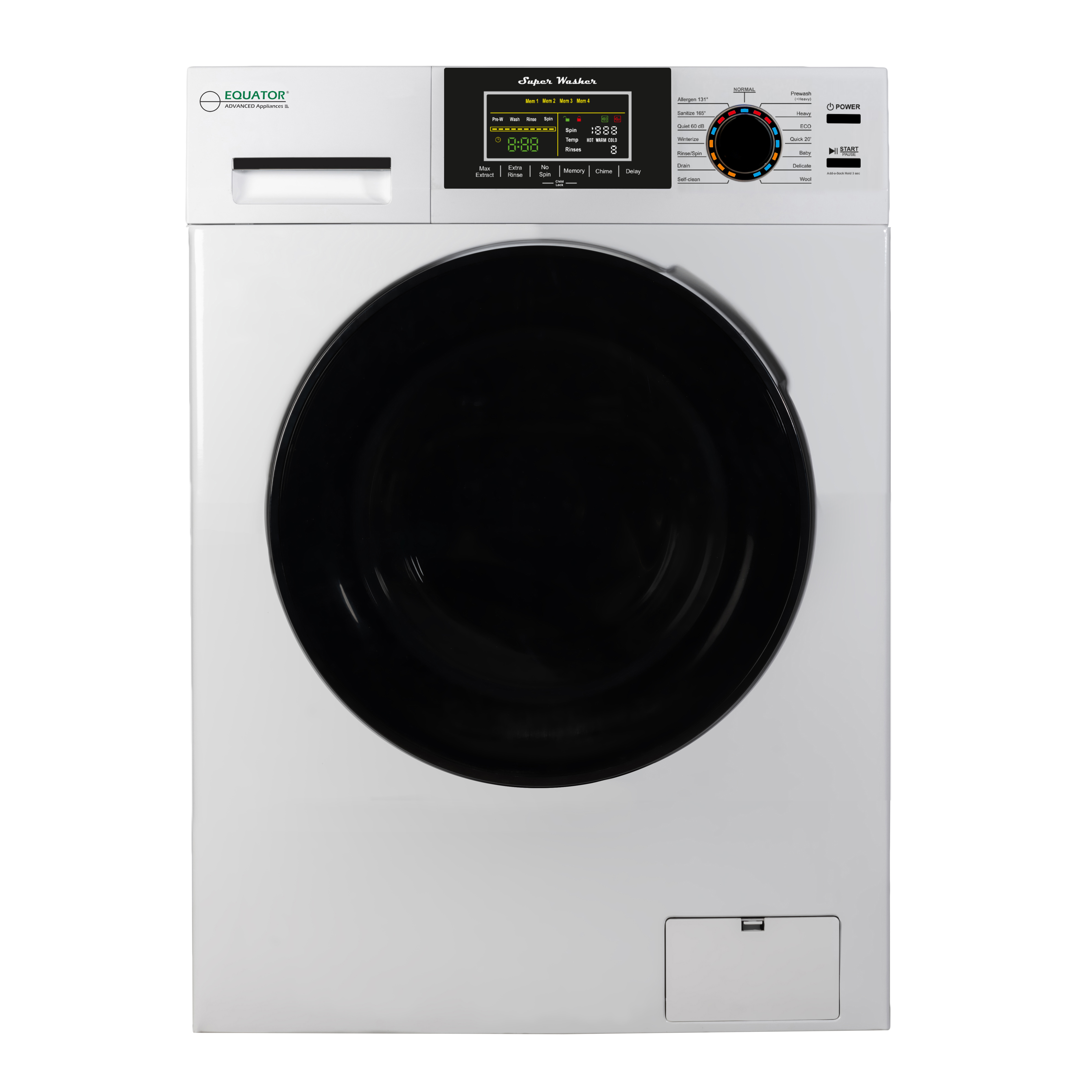 Equator 18 lbs Washer with Sanitize, Allergen and Winterize Features