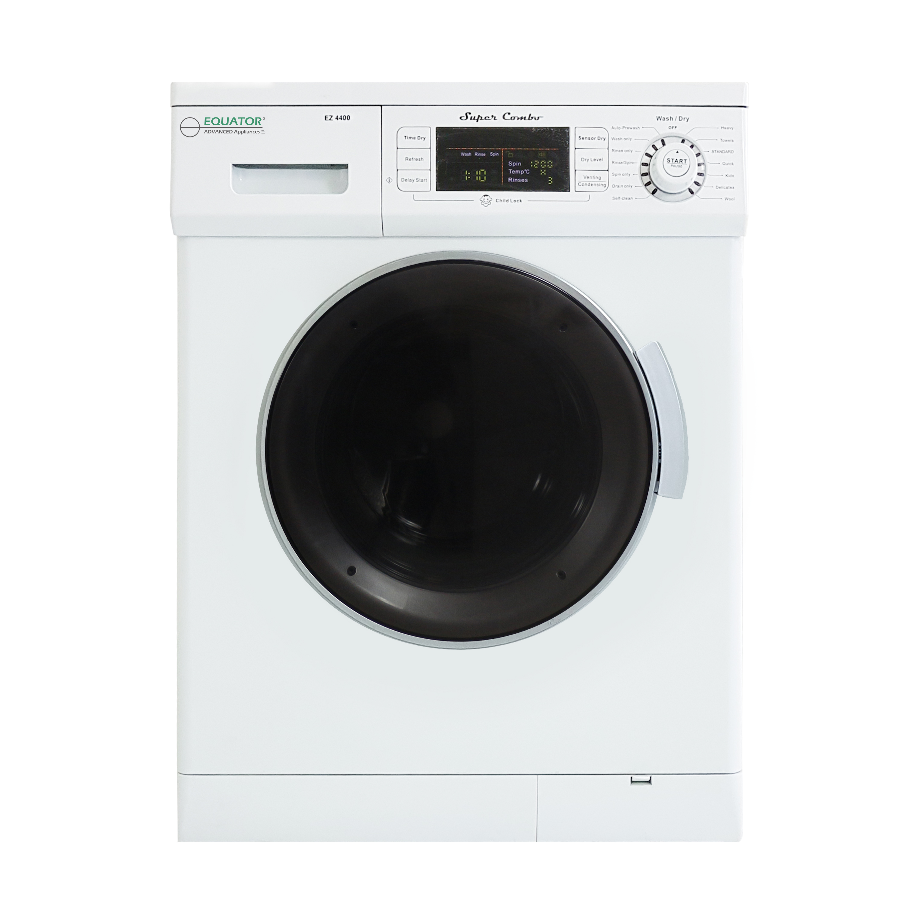 Equator 1.57 cu.ft. Compact Convertible Super Combo Washer-Condensing Drying, White