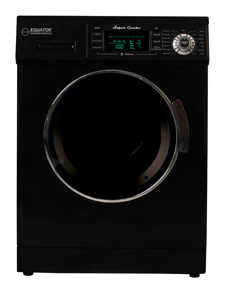 Equator 1.57 cu.ft. Compact Convertible Super Combo Washer with Venting/Condensing Drying, Black