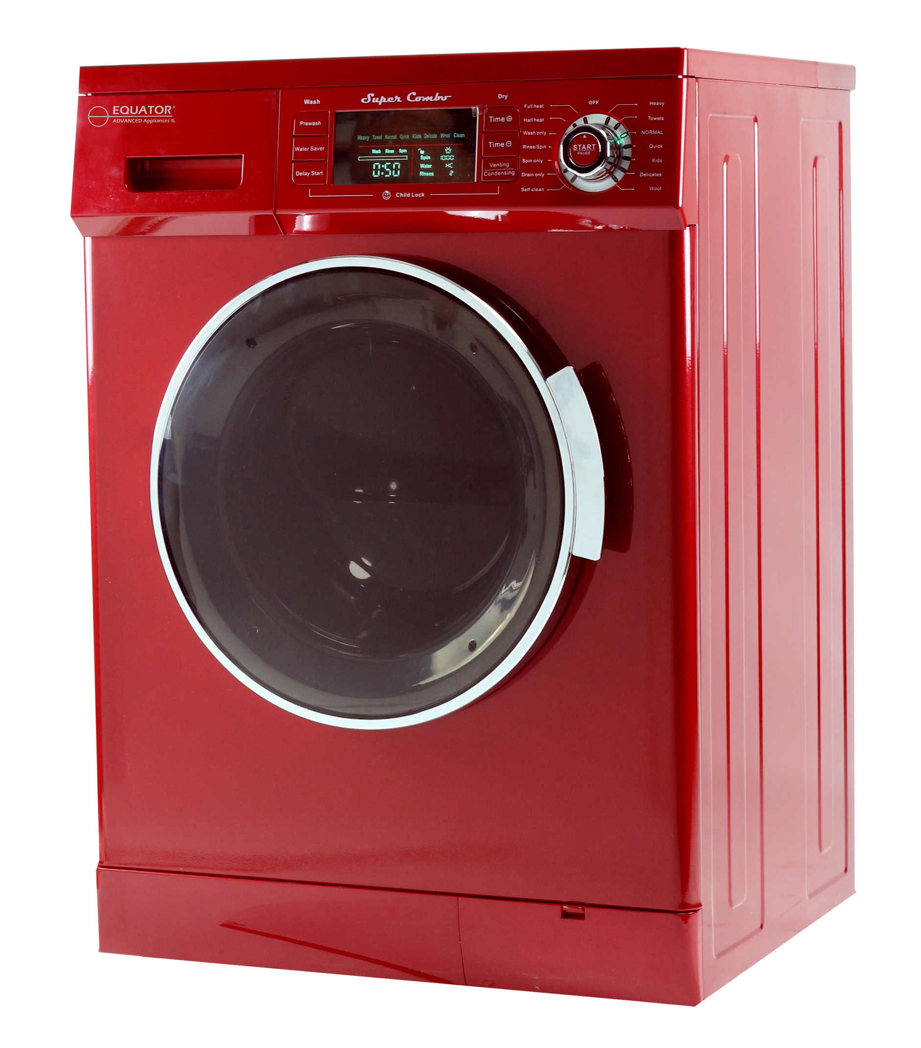 Equator 1.57 Cu. Ft. Compact 2013 Convertible Super Combo Washer with Venting/Condensing Drying in Merlot