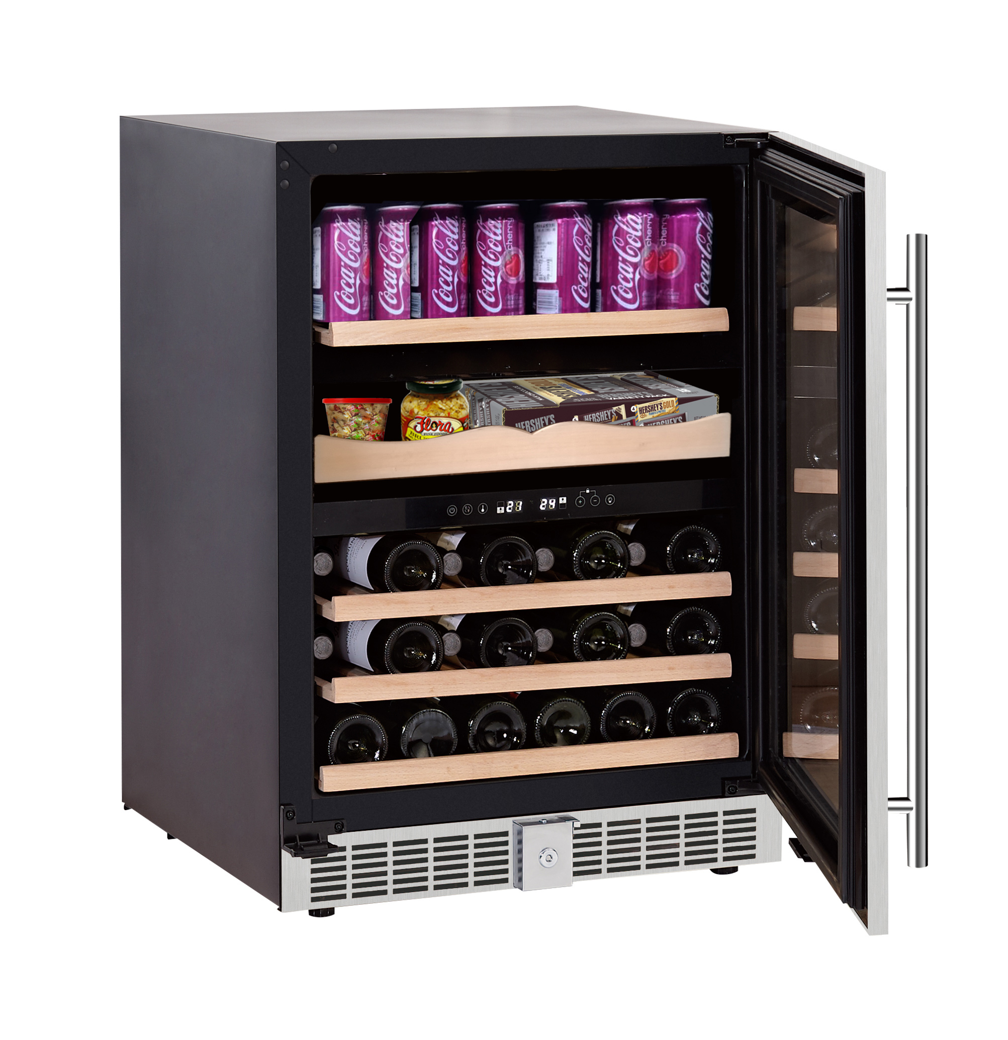Luxury Gourmet Center Dual Zone in Stainless � Cans, Bottles, Fine Foods