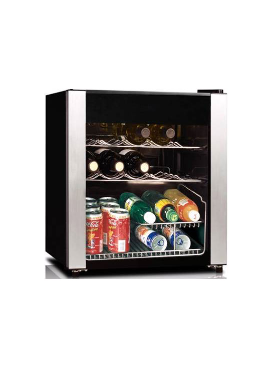 Wine Cooler 1.7 cu. ft., Black with Stainless Steel trim