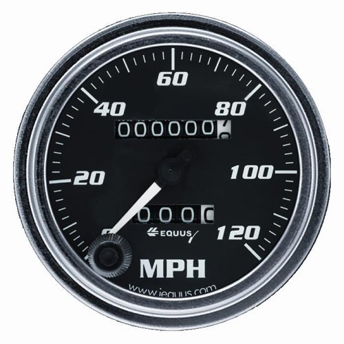 CHROME MECHANICAL SPEEDOMETER, 3-3/8""
