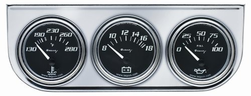 CHROME VOLT TRIPLE GAUGE KIT, 2""