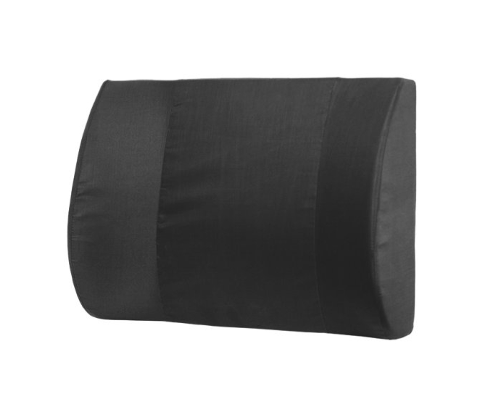 Deluxe, Extra Wide Lumbar Cushion - Black