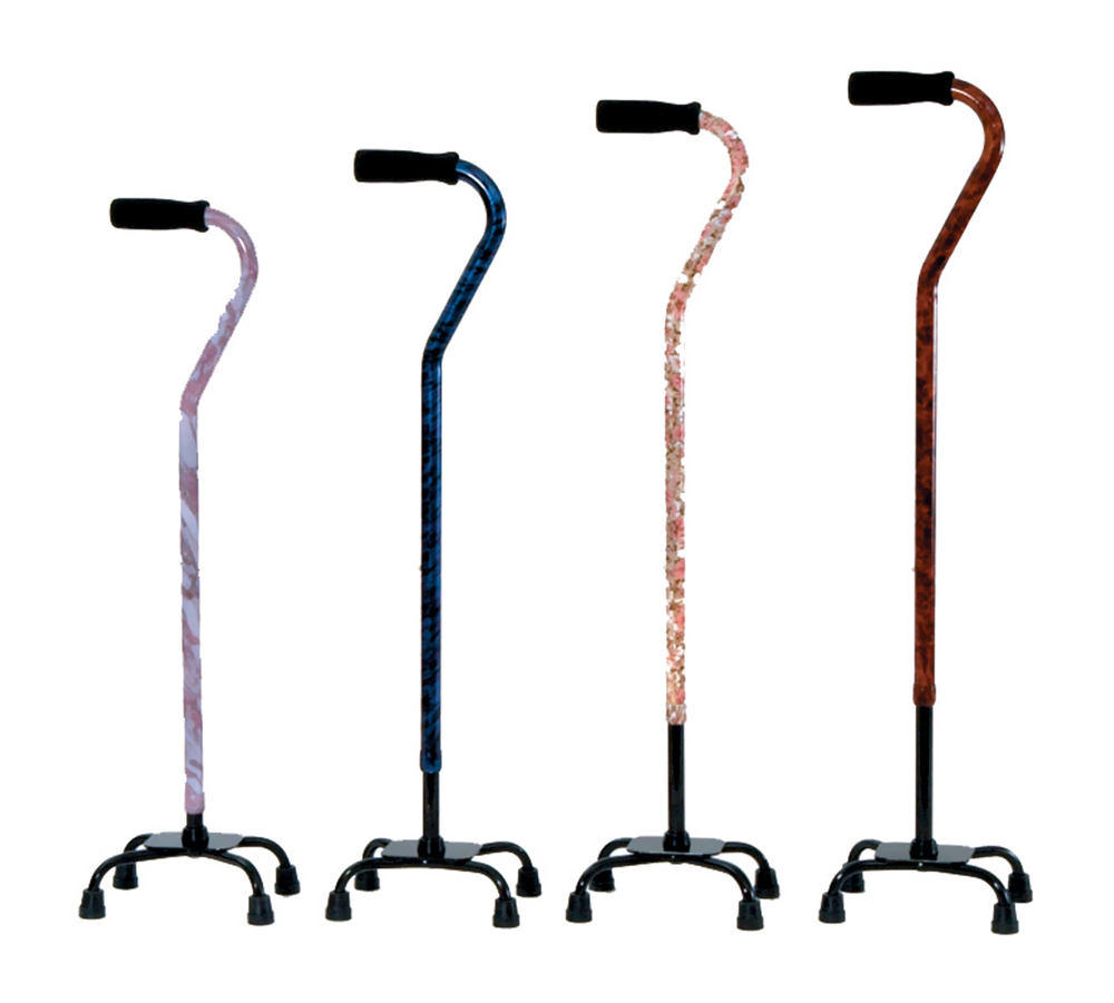 Designer Small Base Quad Cane - Flower