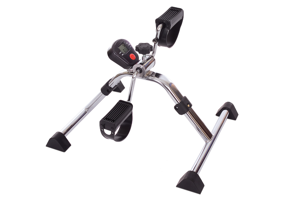 Folding Pedal Exerciser with Tracking Monitor
