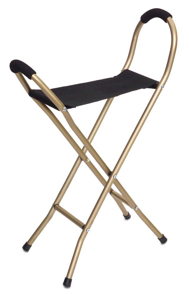 Endurance Folding Seat Cane - 4 Legged