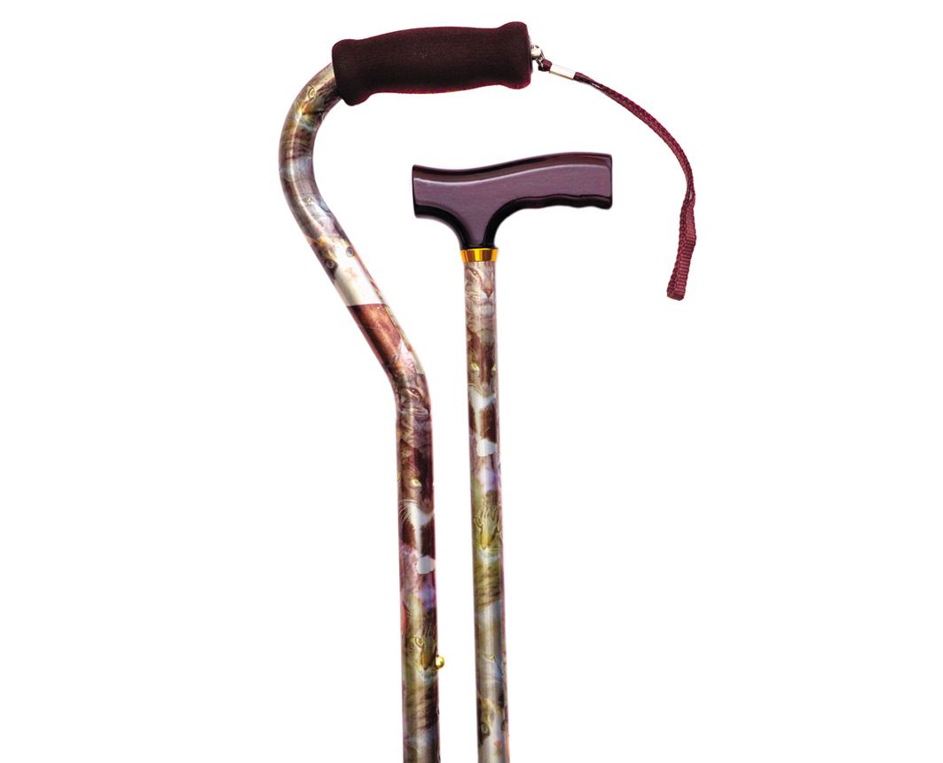 The Cat's Meow Offset Handle Cane
