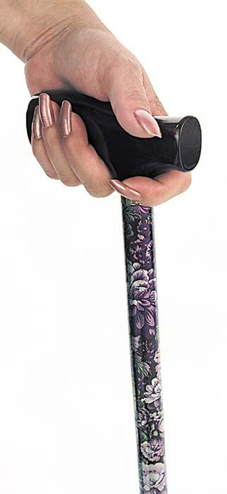 Spring Garden Collection Wood Derby Handle Cane - Lilac