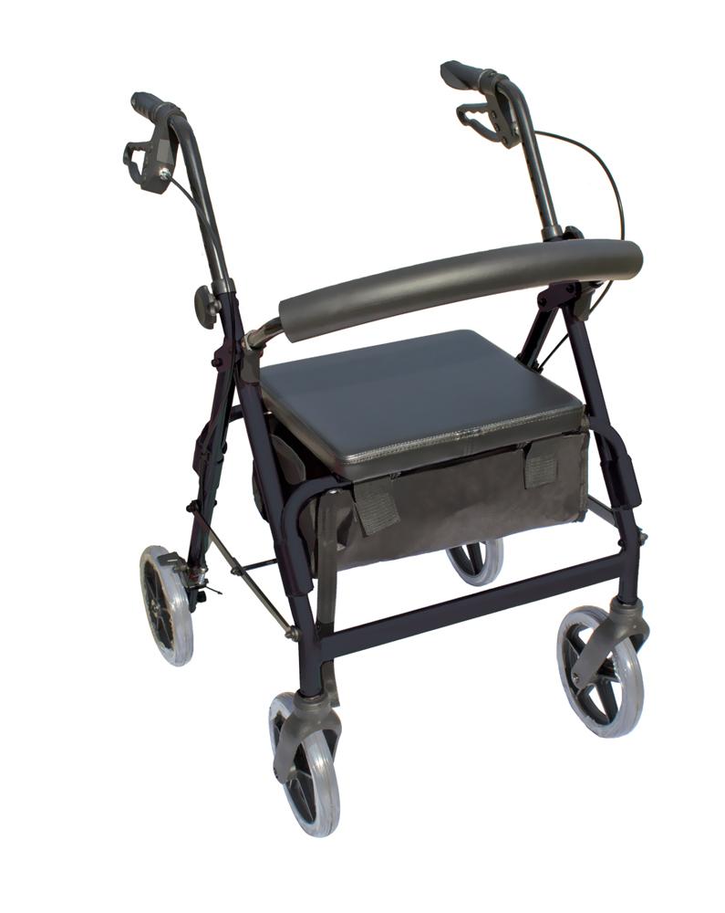 The Blazer 4 Wheel Walker - Black