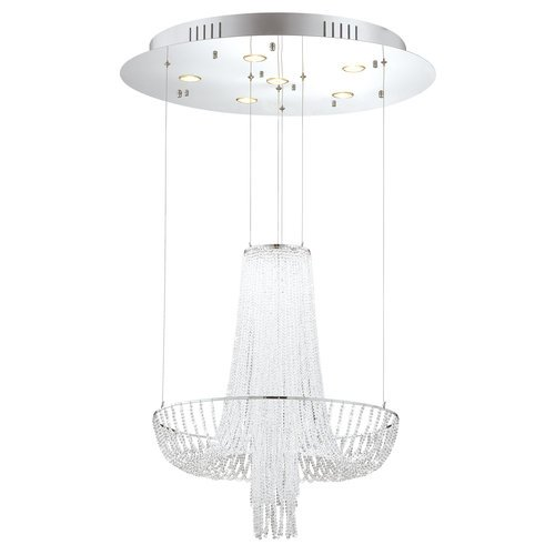 Eurofase Lighting 20420-017 Chrome Gala Gala 6 Light Crystal Empire