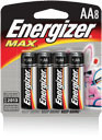 Energizer+ MAX+ AA Everyday Use Alkaline Battery (4 Per Package)