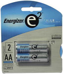 Energizer+ AA Lithium Batteries (2 Per Package)