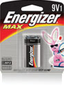 Energizer+ MAX+ 9 Volt Everyday Use Alkaline Battery (1 Per Package)