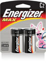 Energizer+ MAX+ C Everyday Use Alkaline Battery (2 Per Package)