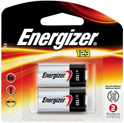 CR123 Advanced Photo Lithium Battery Retail Pack - 2-Pack