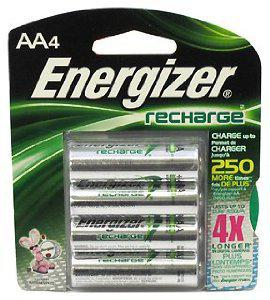 4 Pk, AA Rechargeable Battery