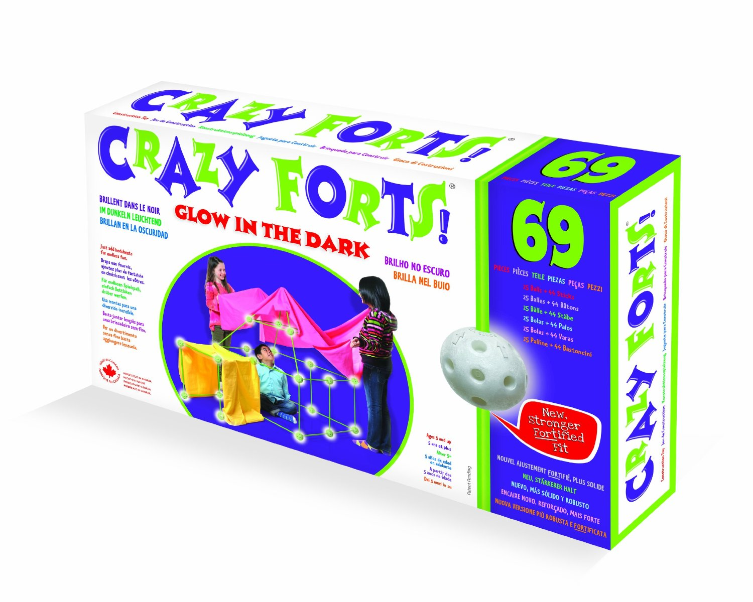 Crazy Forts 69 Piece Set Glow in the Dark